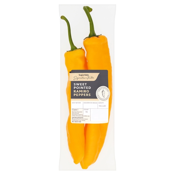 Signature Tastes Sweet Pointed Yellow Ramiro Peppers