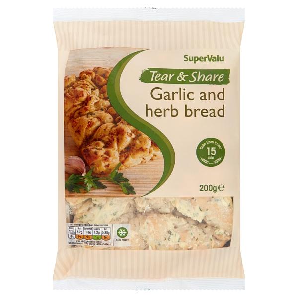 SuperValu Tear & Share Garlic & Herb Bread