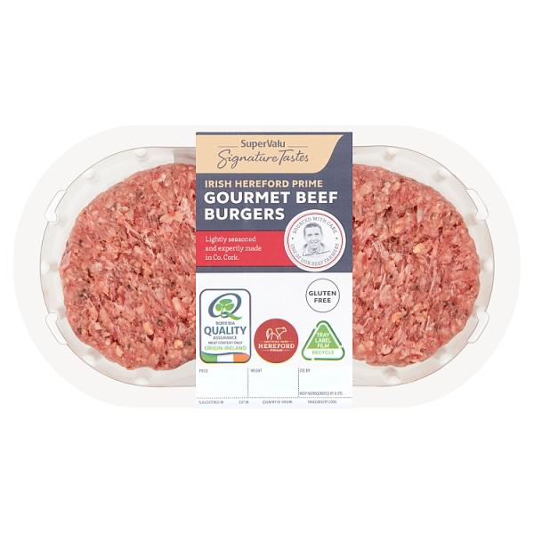Signature Tastes Irish Hereford Prime Gourmet Beef Burgers