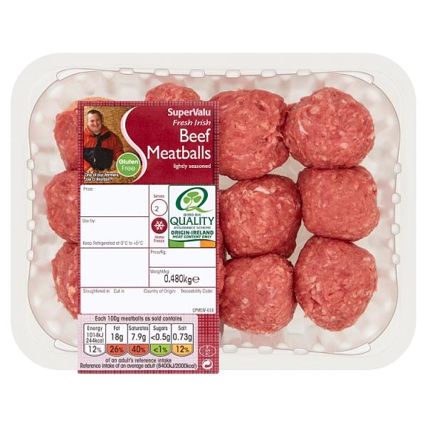 SuperValu Beef Meatballs