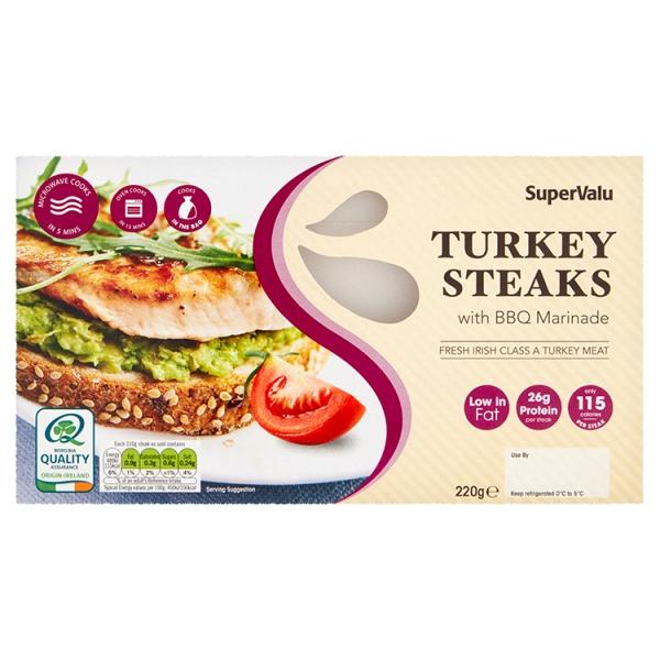 SuperValu Turkey Steaks with BBQ Marinade