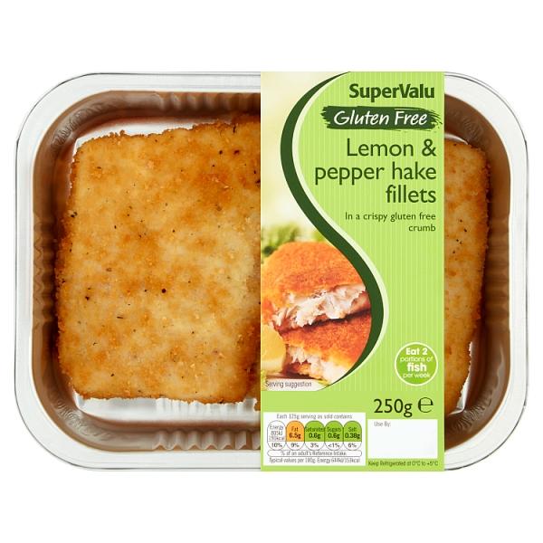 SuperValu Gluten Free Lemon & Pepper Hake Fillets