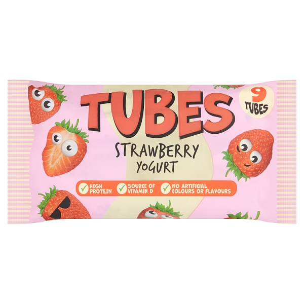 SuperValu Tubes Strawberry Yogurt 9 Pack