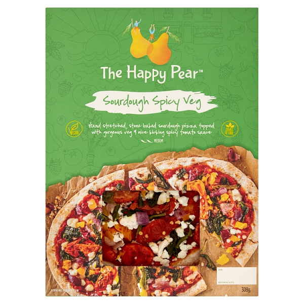 The Happy Pear Spicy Veg Pizza
