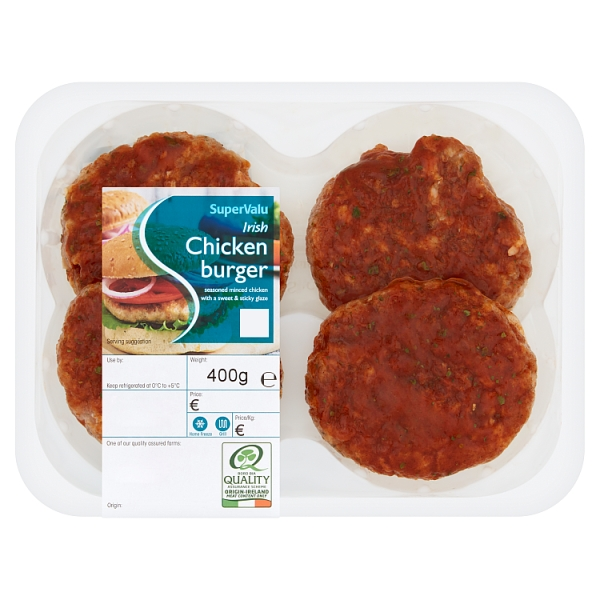SuperValu Fresh Irish Chicken Burgers with Sweet & Sticky Glaze