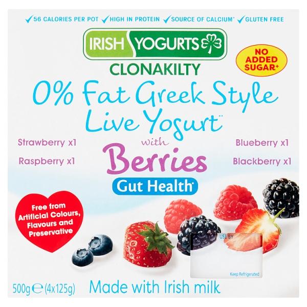 Irish Yogurts Live Yogurt with Mixed Berries 4 Pack