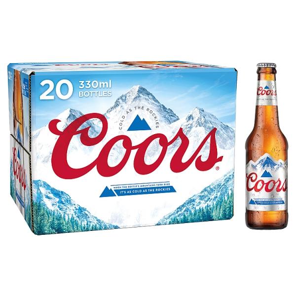 Coors Light Bottles 20 Pack