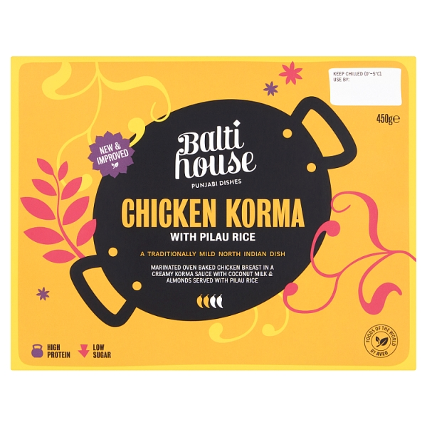 Balti House Chicken Korma With Rice
