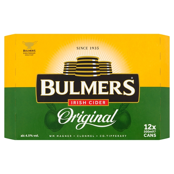 Bulmers Irish Cider Cans 12 Pack