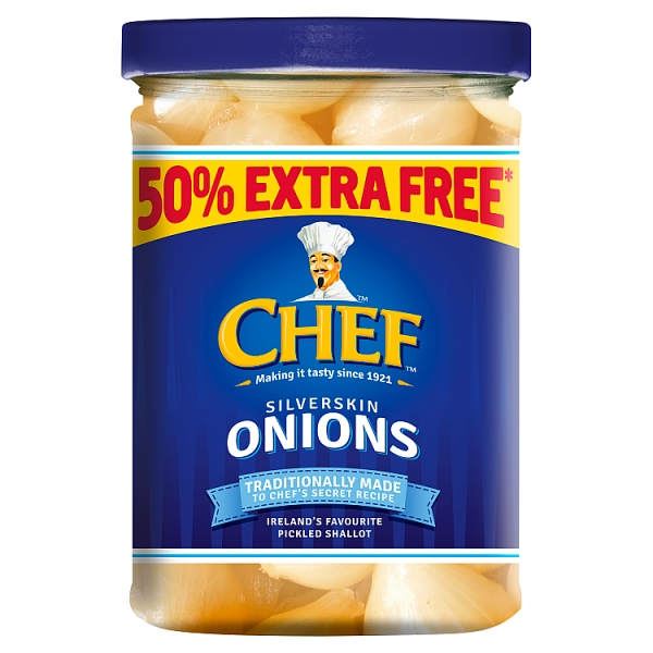 Chef Silver Skin Onions 50% Extra Free