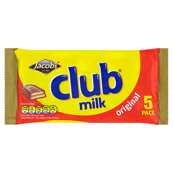 Jacob's Club Milk 5 Pack