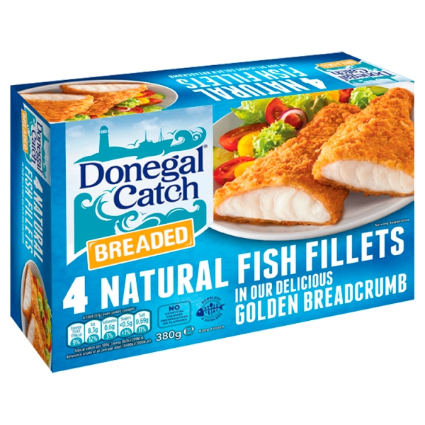 Donegal catch breaded fish fillets 4 pack for Best frozen fish to buy at grocery store