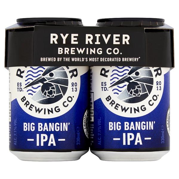 Rye River Big Bangin Ipa 4Pk 330ml Can