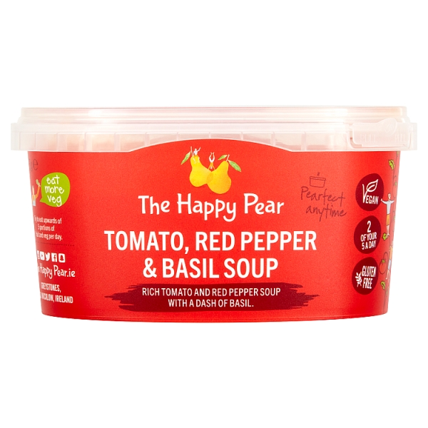 The Happy Pear Tomato, Red Pepper & Basil Soup