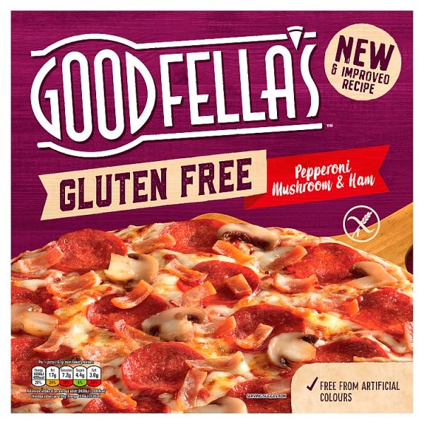 Goodfella's Gluten Free Pepperoni  Mushroom & Ham Pizza