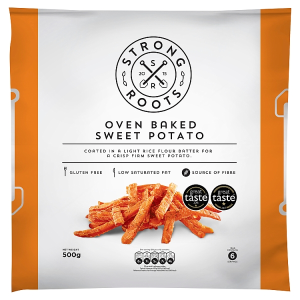 Strong Roots Oven Baked Sweet Potato Fries 500 G