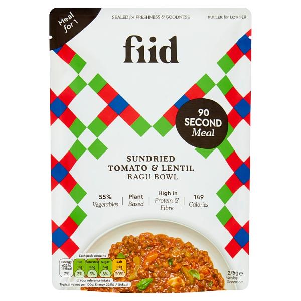 FIID Italian Lentil & Sundried Tomato Ragu
