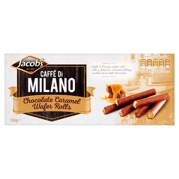 Jacob's Caffè di Milano Chocolate Caramel Wafer Rolls
