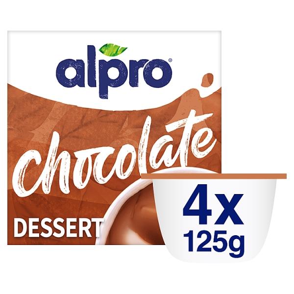 Alpro Dairy Free Chocolate Dessert 4 Pack