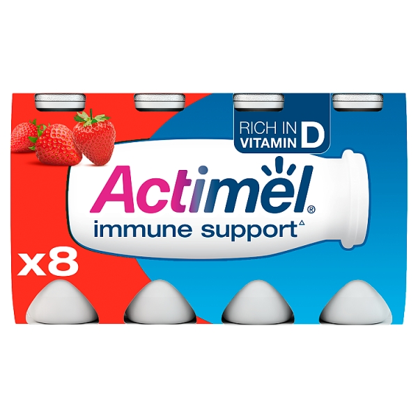 Danone Actimel Strawberry Yogurt Drink 8 Pack