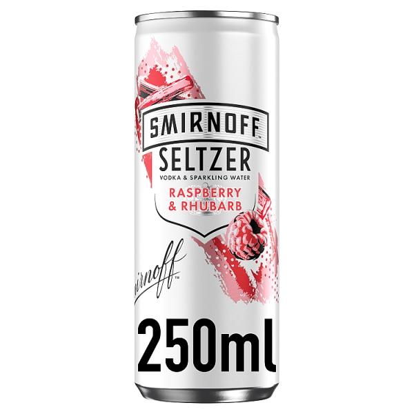 Smirnoff Seltzer Raspberry & Rhubarb