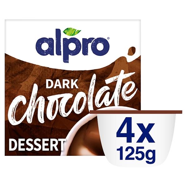 Alpro Desserts Dark Chocolate Dessert 4 Pack