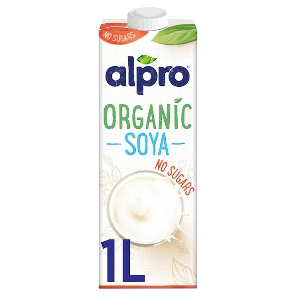 Alpro organic soya milk unsweetned for Alpro soja cuisine