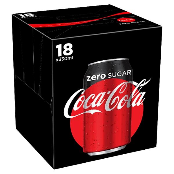 Coke Zero Can 18 Pack (330 Millilitre)