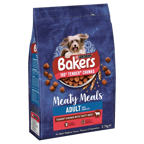 Bakers Meaty Meals Beef Dry Dog Food