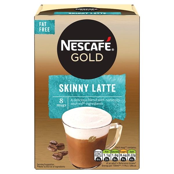 Nescafé Gold Instant Skinny Latte 8 Pack