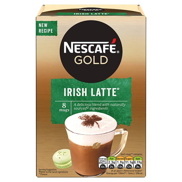 Nescafé Gold Instant Irish Latte  8 Pack