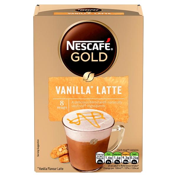 Nescafé Gold Instant Vanilla Latte 8 Pack
