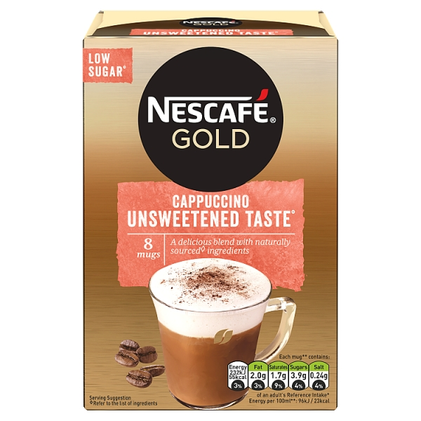 Nescafé Gold Instant Unsweetened Cappuccino 8 Pack