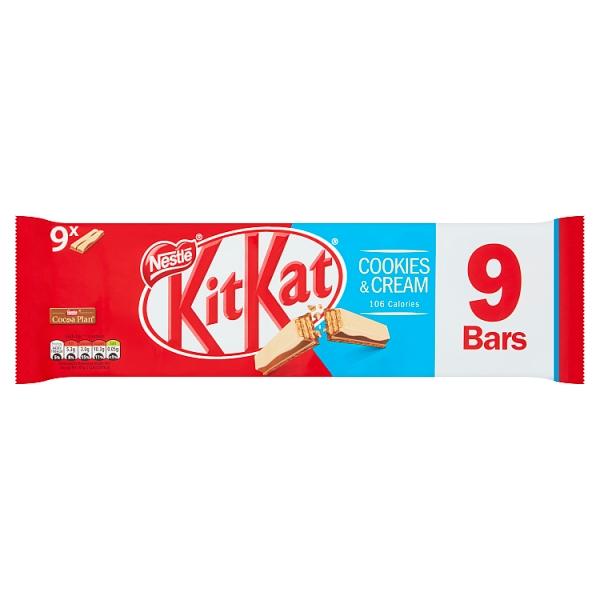 Nestle Kitkat 2 Finger Cookies & Cream 9 Pack