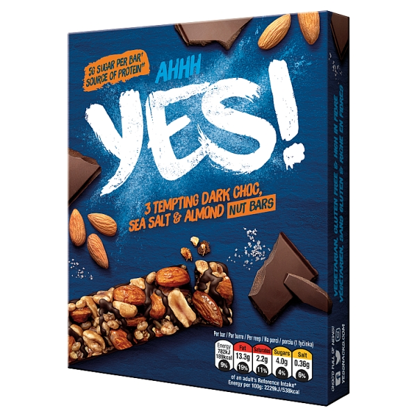 Yes! Sea Salt & And Dark Chocolate Bar 3 Pack Multipack