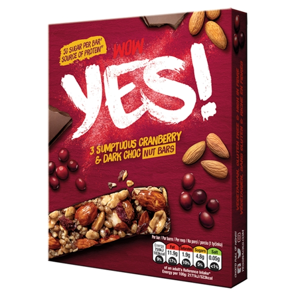 Yes! Cranberry And Dark Chocolate 3Pack Multipack