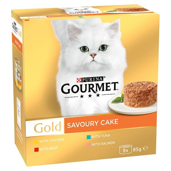 Gourmet Gold Savoury Cake Variety 8 Pack