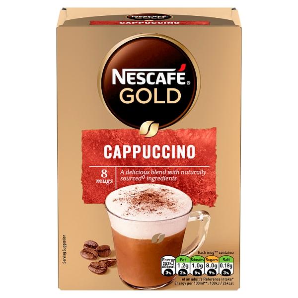 Nescafé Gold Cappuccino Sachets 8 Pack