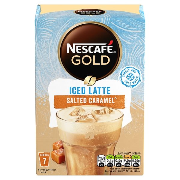 Nescafe Gold Iced Salted Caramel Latte Sachets