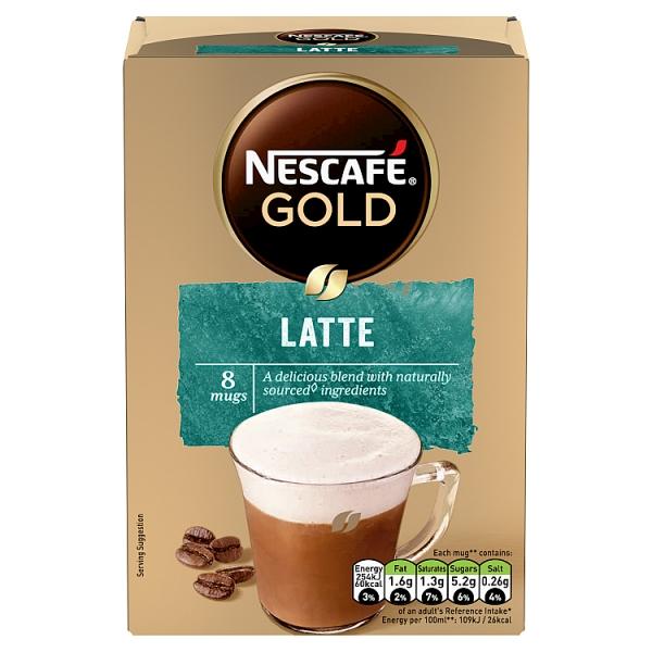 Nescafé Gold Latte Sachets 8 Pack
