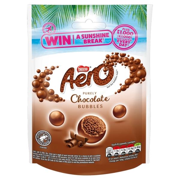 Nestle Aero Milk Chocolate Bubbles Pouch