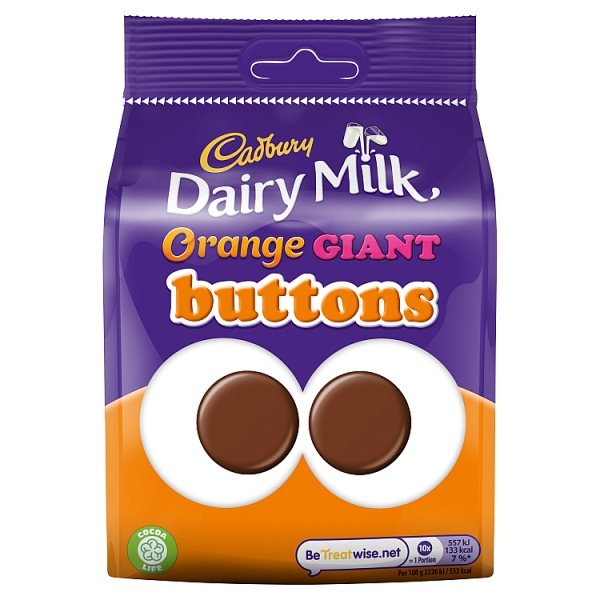 Cadbury Dairy Milk Giant Orange Chocolate Buttons Pouch