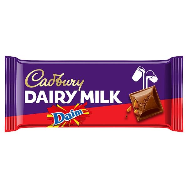 Cadbury Dairy Milk Daim Chocolate Bar