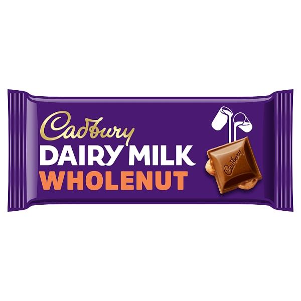 Cadbury Dairy Milk Chocolate Wholenut Bar