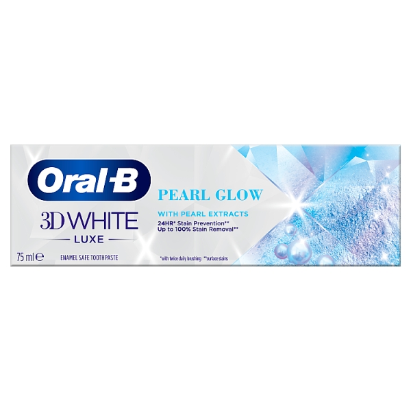 Oral-B 3D White Luxe Pearl Glow Toothpaste