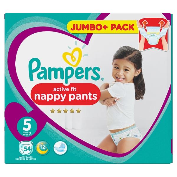 pampers active fit pants size 5 jumbo. Black Bedroom Furniture Sets. Home Design Ideas