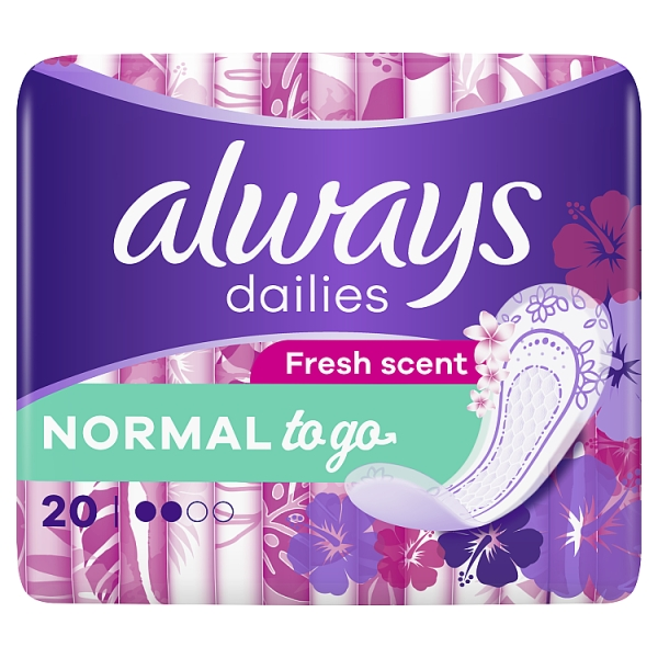 Always Dailies Singles To Go Panty Liners