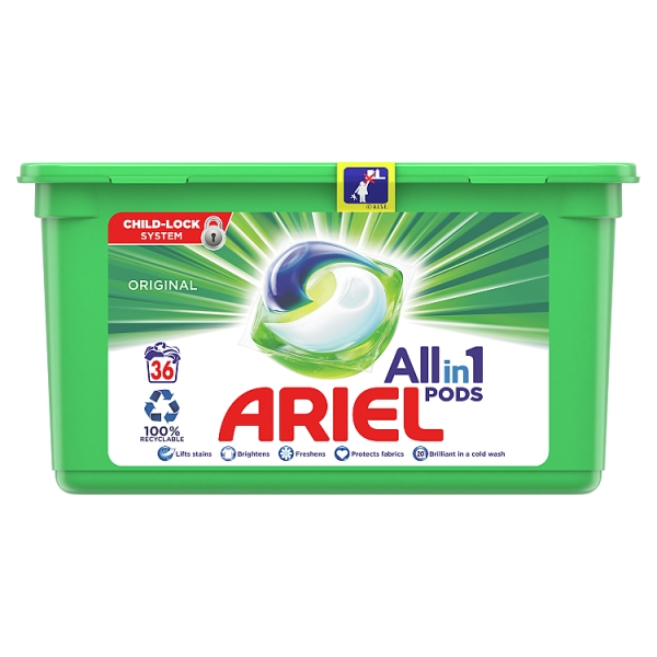 Ariel Original All in 1 Pods 36 Washes