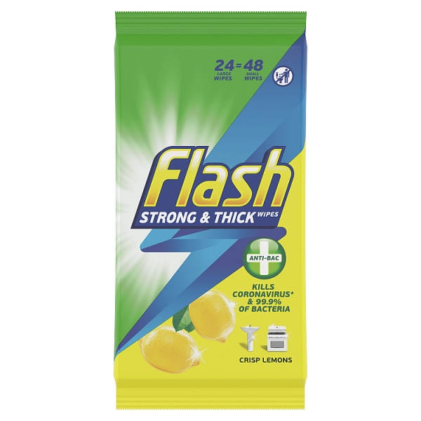 Flash String & Thick Antibacterial Lemon Wipes