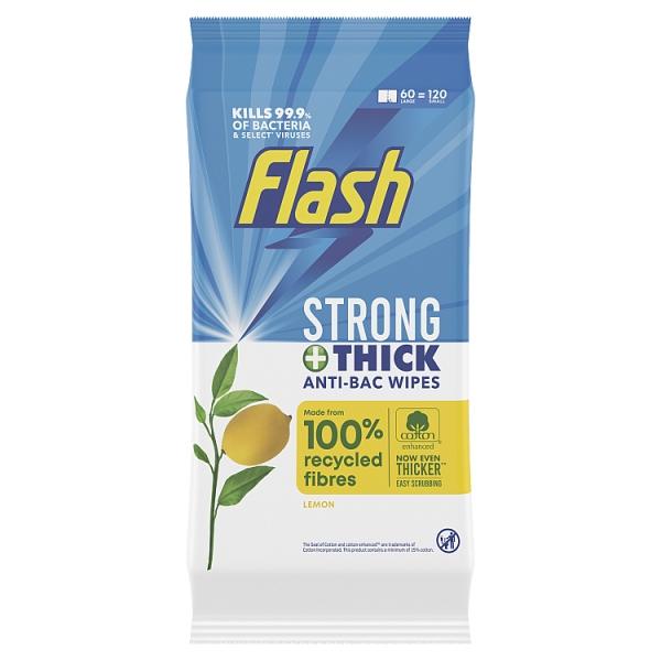 Flash Lemon Anticbacterial Strong Wipes